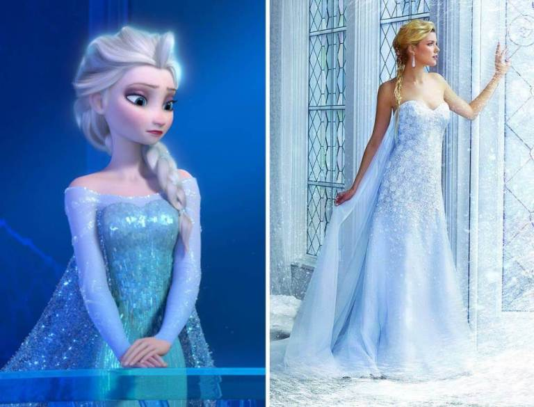 Frozen wedding dress Alfred Angelo